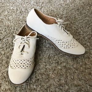 Charlotte Russe Nude Oxfords